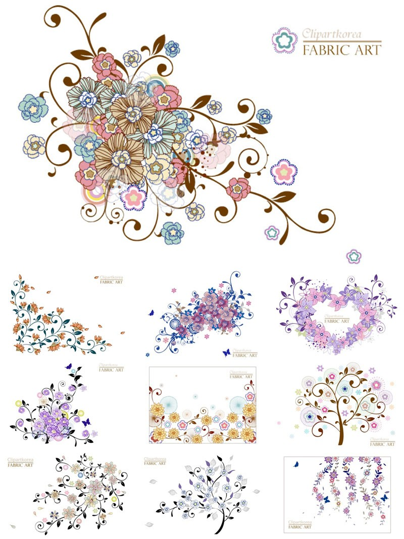 colorful-decorative-floral-elements-vector